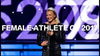 "SARAH SJÖSTRÖM WINS ""BEST FEMALE ATHLETE OF 2017"""