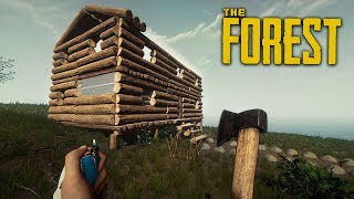 WE BUILT A HOUSE!! (The Forest)
