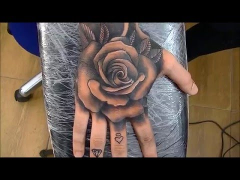 Rose tattoo - time lapse