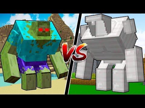 NEW MINECRAFT GOLEM vs MUTANT CREATURES!!