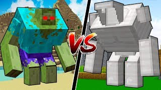NEW MINECRAFT GOLEM vs MUTANT CREATURES!!