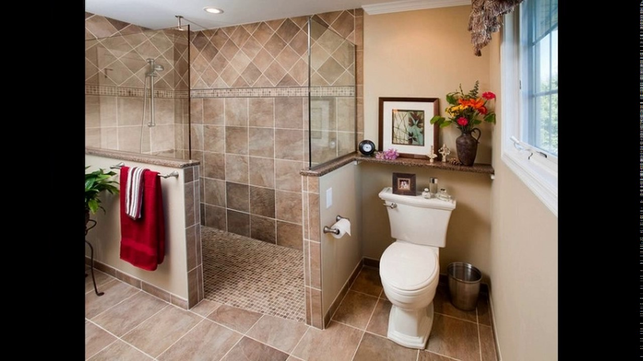 Bathroom Design Doorless Shower Youtube