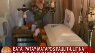 UB: Bata sa Negros Oriental, patay matapos paulit-ulit na ihulog ng ina sa upuan