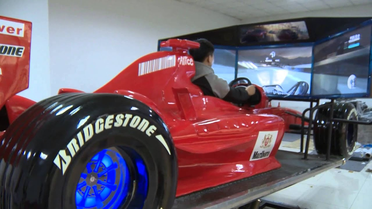 F1 Driving Racing Car Motion Simulator Youtube