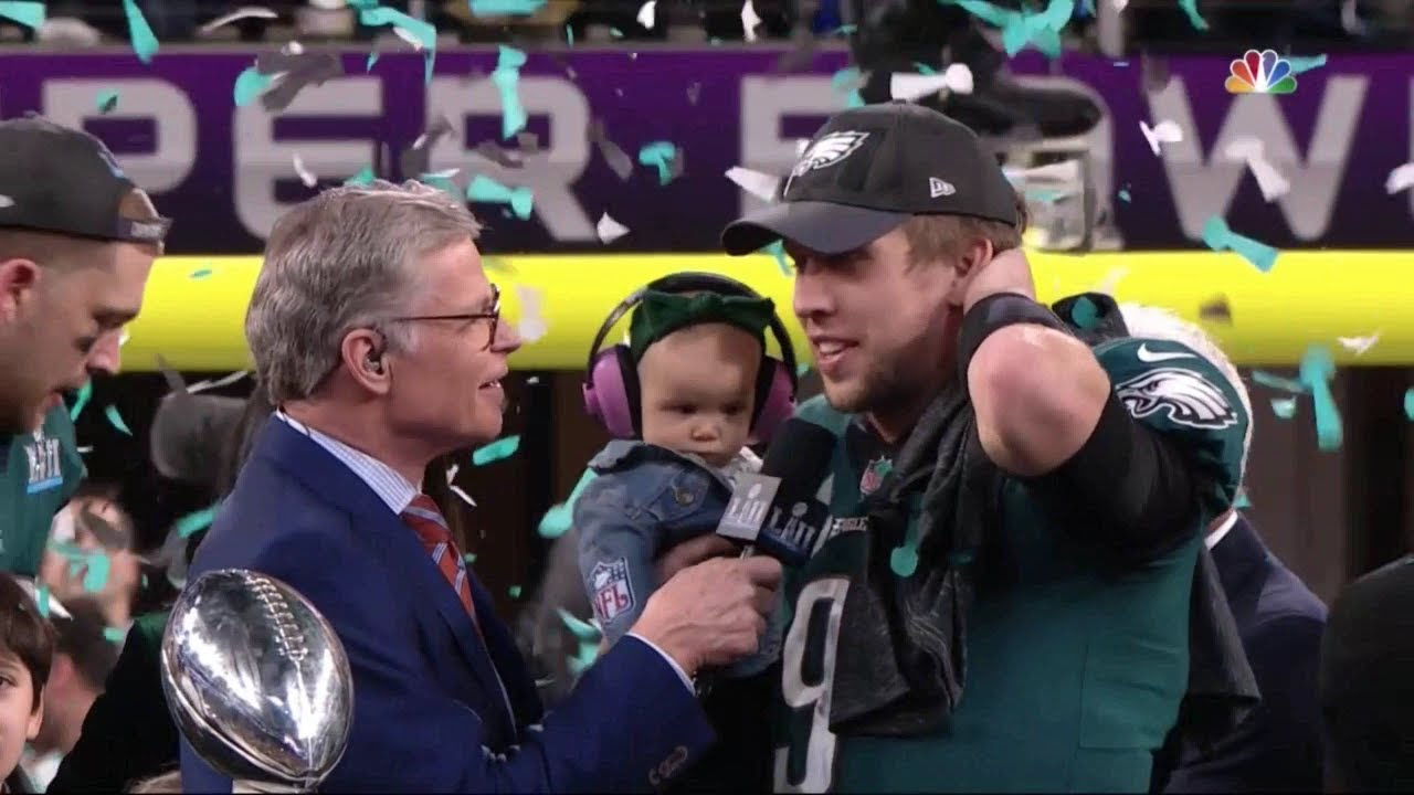 Philadelphia Eagles Super Bowl LII Lombardi Trophy Presentation