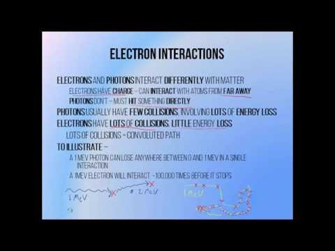4 - Radiotherapy electron interactions and stopping power
