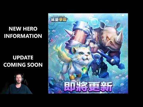 New Hero Wild Rhinoceros New Pet UPDATE Information Castle Clash