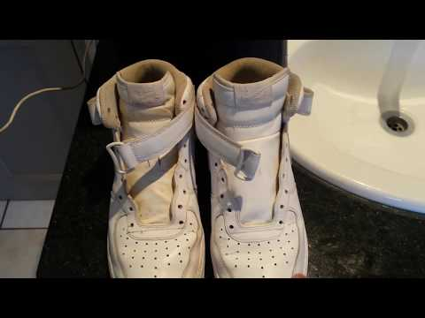 How to clean old White air force 1s (New method)!!