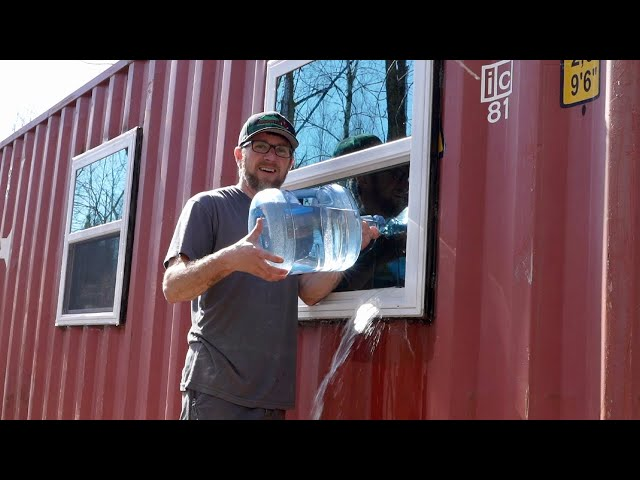 We Can't Move Forward Till we get This FIGURED OUT! Water LEAK in the SHIPPING CONTAINER CABIN