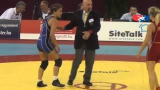 World W - Mattsson (SWE) dec. Maroulis (USA), 55 kg quarters