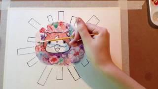 Yokai Watch Fanart (Watercolor Timelapse)