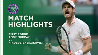 Andy Murray vs Nikoloz Basilashvili | First Round Highlights