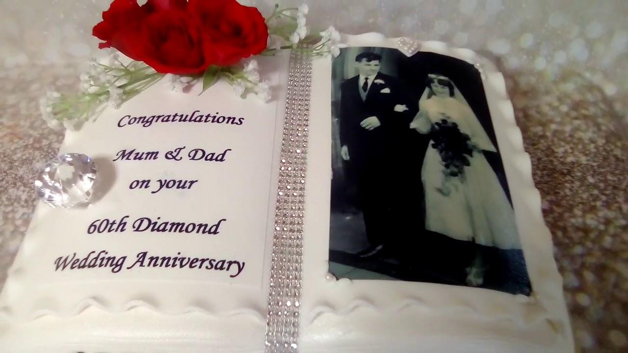 Diamond Wedding Anniversary Cake Anniversary Cake Cake