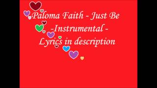 Paloma Faith - Just be - Instrumental/karaoke