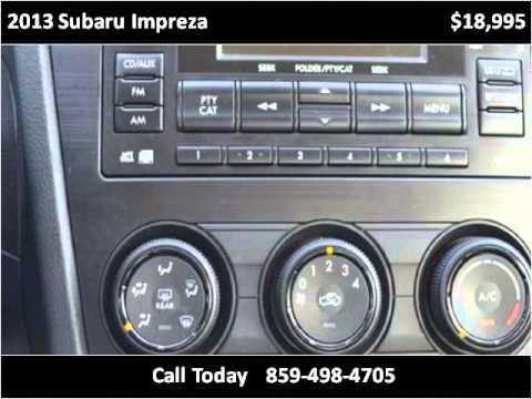 2013 Subaru Impreza Used Cars Mt. Sterling KY - YouTube