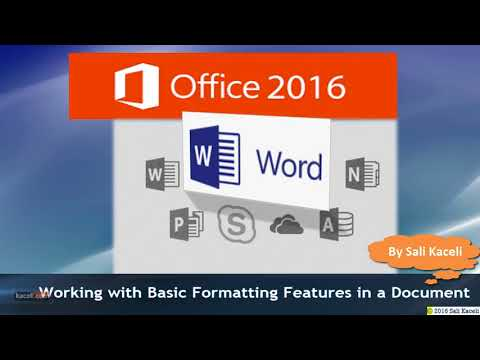 Word 2016 Tutorial Complete for Professionals and Students
