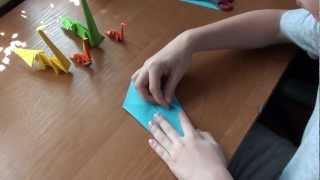 http://nashydetky.com Оригами бронтозавр (видеоурок).mpg