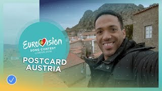 Postcard of Cesár Sampson from Austria - Eurovision 2018