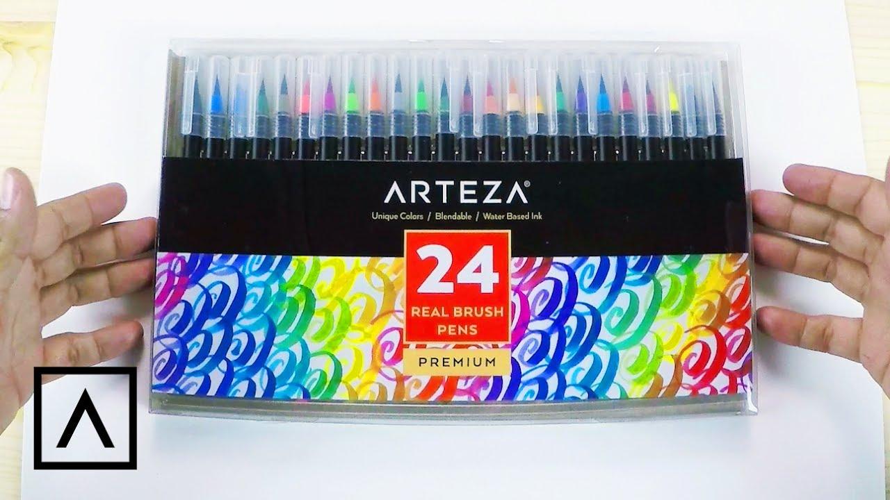 Arteza Real Brush Pens Review - YouTube