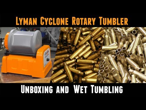 Lyman Cyclone Stainless Steel Rotary Case Tumbler: From Unboxing to Wet Tumbling Brass