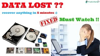 How To Recover Date form Hard Disk ?? || Must Watch ! || [hindi]