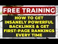 SEO Backlink Tutorial   How to get POWERFUL Backlinks to your Website  amp  Get TOP Rankings  PART 9