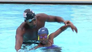 Olympic Swimmer Cullen Jones Makes a Splash in Chicago