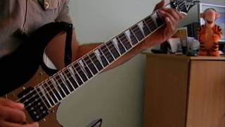 "Bon Jovi ""you give love a bad name"" guitar cover"