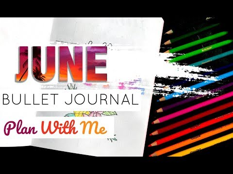 PLAN WITH ME | June 2018 | Bullet Journal Setup