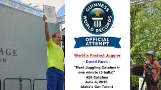 World's Fastest Juggler -David Rush- Official Guinness World Record