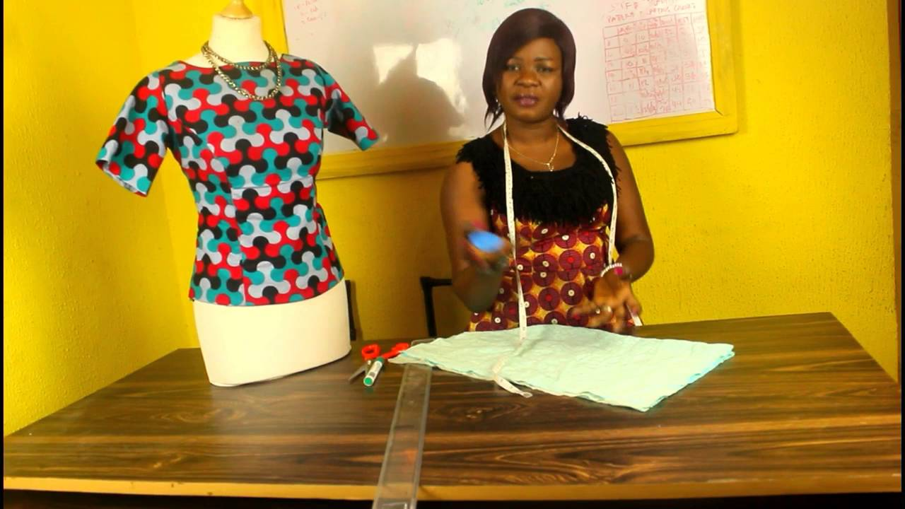 How To Cut A Simple Ankara Or Lace Blouse Without Youtube