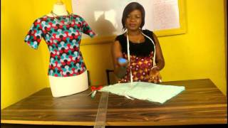 HOW TO CUT A SIMPLE ANKARA OR LACE BLOUSE WITHOUT