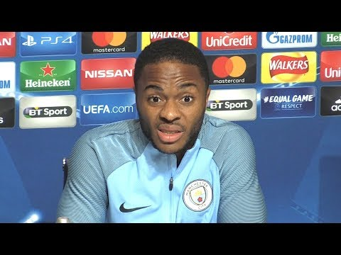 Raheem Sterling Full Pre-Match Press Conference - Manchester City v Napoli - Champions League