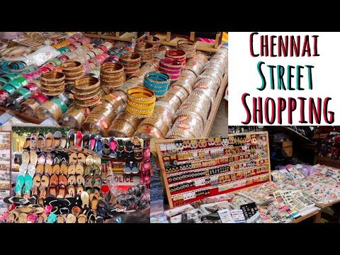Chennai Street Shopping - Street food, Shopping Haul T nagar Pondy bazaar #adityvlogs