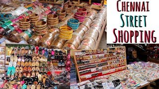 Chennai Street Shopping - Street food, Shopping Haul T nagar Pondy bazaar #adityvlogs
