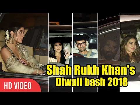 Shahrukh Khan's DIWALI Full Night Party At Mannat | Katrina, Kareena, Kajol, Aamir Khan, Sara