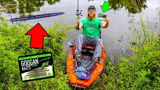 Pond Fishing w/ SECRET Weapon for BIG BASS!!