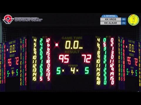 25. kolo HT-Premijer košarkaške lige Hrvatske - KK VRIJEDNOSNICE OSIJEK – KK ALKAR 95:72