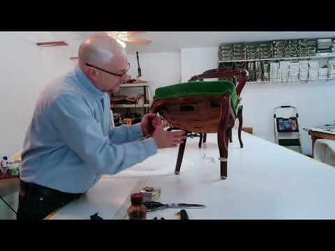 Antique chair upholstery for beginners (Part 1)