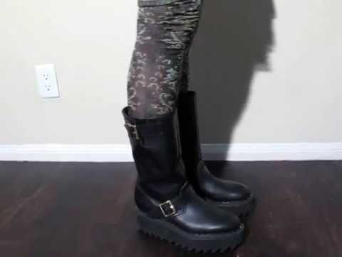 George Cox Re-issue Vivienne Westwood Collab Ripple Sole Engineer Boots - Quick Worn