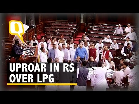 Opp Condemns Govt's Price Hike of LPG Cylinders in Rajya Sabha - The Quint