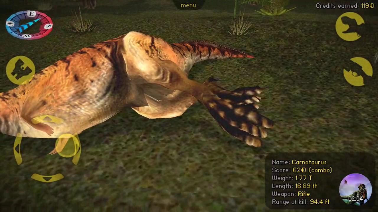 Carnivores Dinosaur Hunter   Carnotaurus Size/Call - YouTube