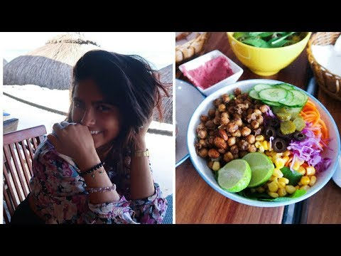 WHAT I EAT FT. A CYCLONE IN MAURITIUS | VEGAN 🌱🌪🌦🌺 وجبات اسب