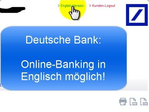 Deutsche Bank | Online Banking in Englisch
