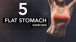 Intense Lower Abs Workout (5 FLAT STOMACH EXERCISES!!)