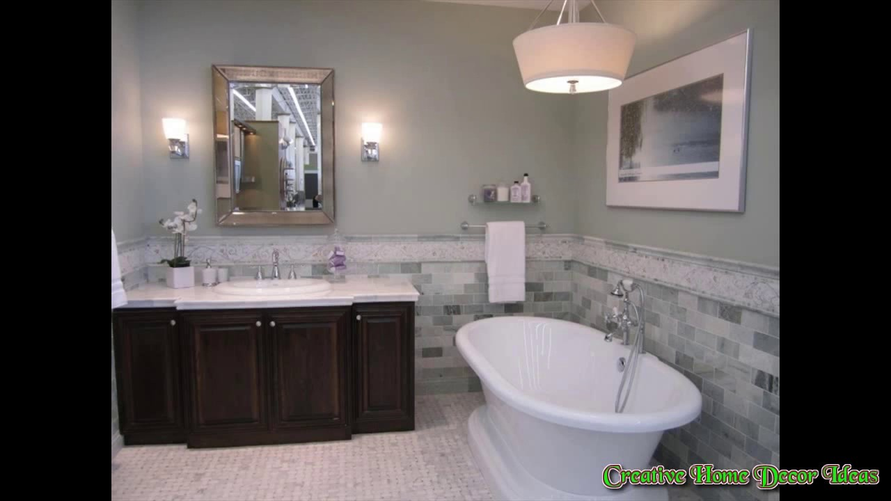 Grey bathroom accent color youtube - Accent color for gray and white bathroom ...