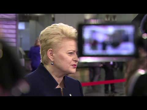 Doorstep by Dalia Grybauskaitė (LT) ahead of the Eastern Partnership Summit in Riga, 22 May
