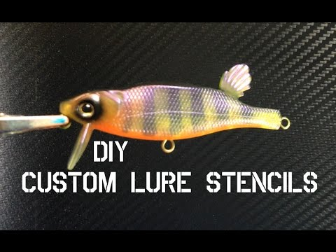 HOW TO MAKE CUSTOM LURE STENCILS FOR PAINTING
