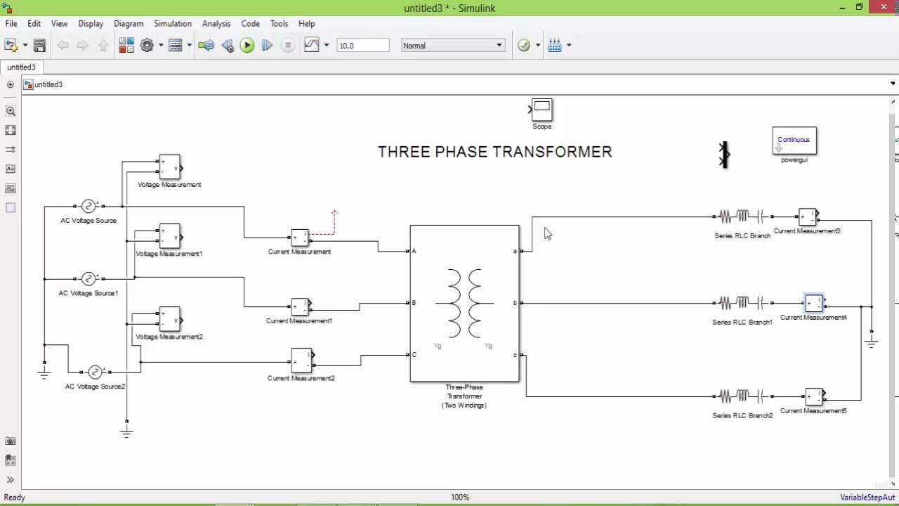 medium resolution of matlab simulation of three phase transformer