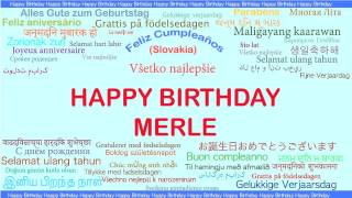 Merle   Languages Idiomas - Happy Birthday